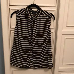 J.Crew button down blouse striped size 2